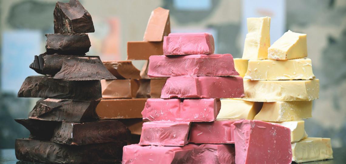 Chocolate rosa é novidade noBrasil
